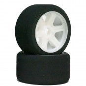 1/8 Front Light Weight White Rims (4)